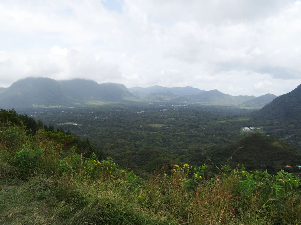 El Valle, view from the western mountain ridge